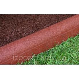 Поребрик Садовый на сером цементе 8 см вишня