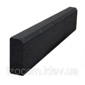 Поребрик Садовий на сірому цементі 8 см графіт