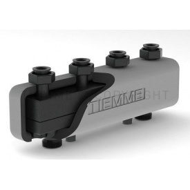 Стальной коллектор Tiemme для теплоцентрали с изоляцией и крепежными кронштейнами 3 контура 3 м3/ч 80x60 (5570007)