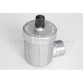 """Автоматичний клапан випуску повітря з нікельованим боковим кріпленням Tiemme 1/2"""" зовнішня різьба (1980003)"""