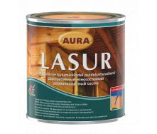 Декоративно-защитное средство для деревянных фасадов Aura Wood Lasur 0,7 л дуб