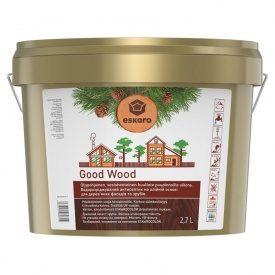 Водоразбавляемый антисептик Good Wood на масляной основе для деревянных фасадов и срубов 2,7 л