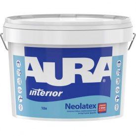 Износостойкая глубокоматовая интерьерная краска Aura Neolatex 10 л