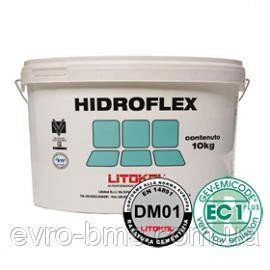 HIDROFLEX 20 кг Еластична гідроізоляційна мембрана для внутрішніх робіт Litokol