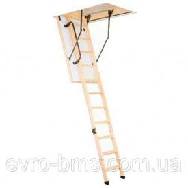 Чердачная лестница Oman Termo PS с поручнем