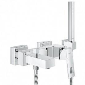 EUROCUBE смеситель для ванны однорычажный с душевым гарнитуром ручной душ+шланг+держатель