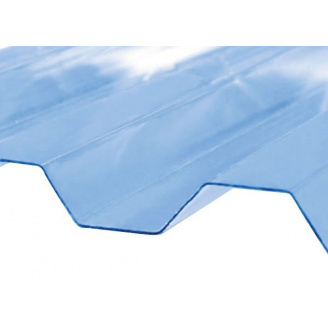 Поликарбонат Rober 2000x1045x0.5 мм трапеция Прозрачный