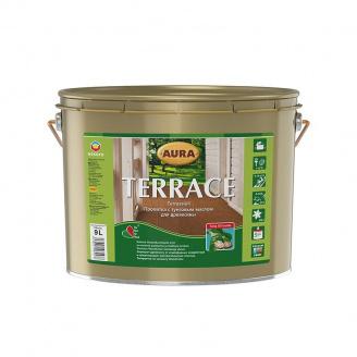Масло для террас Aura Wood Terrace 9 л коричневый