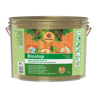 Биозащитная грунтовка для древесины Eskaro Biostop 9 л