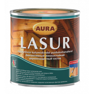 Декоративно-защитное средство для деревянных фасадов Aura Wood Lasur 0,7 л махагон