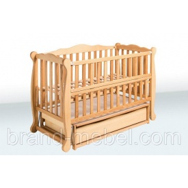 Деревянная кроватка-колыбель Гойдалка Натали 2 1В39-2 льняное масло