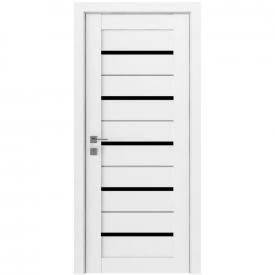 Двери межкомнатные RODOS MODERN Lazio напівскло BLK белый мат ПВХ
