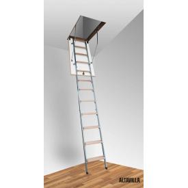 Чердачная лестница Altavilla Faggio Cold Metal 4S 80x60 (h-265)