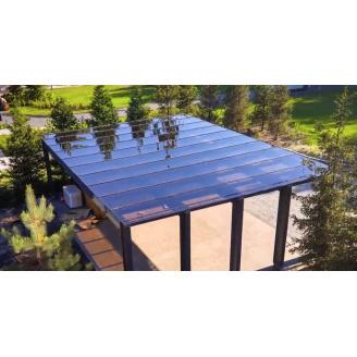 Монолитный поликарбонат 2050х3050х4 мм бронза