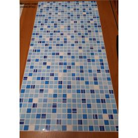 Листовая панель ПВХ Регул мозаика Кофе синий 960х480 мм