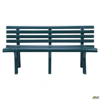 Пластиковая скамейка АМФ Atena 1500х510х730 мм зеленая