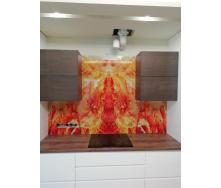 Стеклянный фартук Студия закаленного стекла интерьерный с подсветкой 2500x600 мм