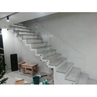 Скляне огородження для сходів