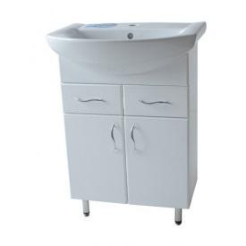 Тумба для ванної кімнати БАЗИС 60 c умивальником ЛІБРА 60