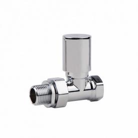Кран радиаторный 1/2 хром SD FORTE SF235W15 прямой с ручкой