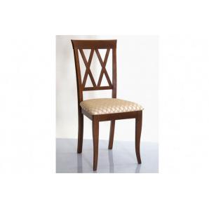 Кухонний стілець з масиву дерева з м'якою сидушкою Венеція Н горіх