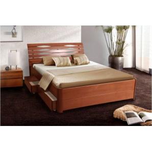 Ліжко двоспальне з масиву Марія люкс з висувними ящиками