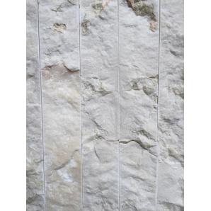Декоративна плитка натуральний мармур білий 2х5х30 см