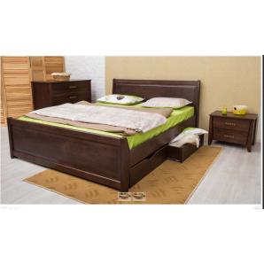 Ліжко дерев'яне з ящиками Сіті класична дерев'яна ліжко Узголів'я 1600х2000 мм
