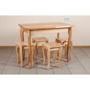 Кухонний стіл Смарт з масиву бука натуральний 1000x600 мм