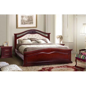 Ліжко з масиву дерева Маргаритта каштан 1600х2000 мм