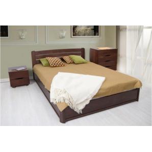 Дерев'яна 2х спальне ліжко на подьемной рамі Софія 1600х2000 мм