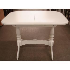 Обідній розсувний стіл з натурального дерева Аврора білий ваніль 1020/330х685
