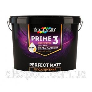 Kompozit PRIME 3 9 л Гіпоалергенна інтер'єрна фарба глубокоматовая для стін і стель