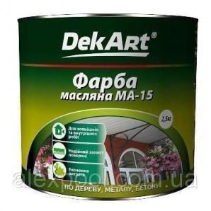 DekArt Фарба масляна МА-15 Яскраво-зелений 2,5 кг універсальна
