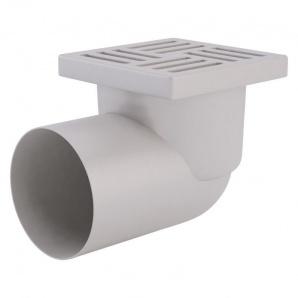 Трап ANI Plast TA1110 горизонтальний з пластиковою сіткою 150х150
