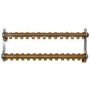 Колектор для теплої підлоги Herz G 3/4 на 15 контурів без витратомірів 1853115