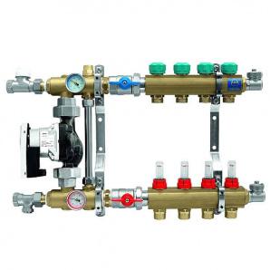 Колектор для теплої підлоги KAN з витратомірами серія 73Е на 4 виходи 7304E
