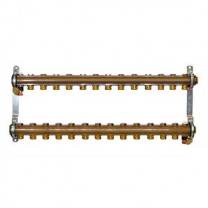 Колектор для теплої підлоги Herz G 3/4 на 14 контурів без витратомірів 1853114