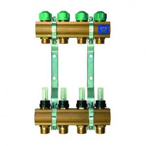 Колектор для теплої підлоги KAN з витратомірами серія 75A на 4 виходи 75040A