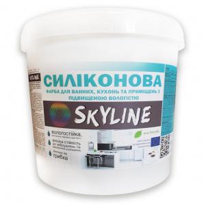 Краска суперстойкая Силиконовая для помещений с повышенной влажностью SkyLine 10л