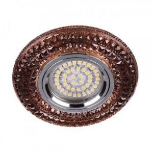 Вбудований світильник Feron CD877 з LED підсвічуванням чайний
