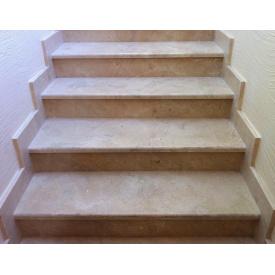 Лестница Crema Marfil мрамор 1000х300х20 мм