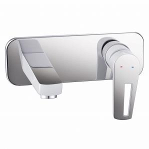 BRECLAV змішувач для раковини, хром настінний білий 35мм IMPRESE VR-05245W