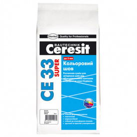 Затирка СЕ33 ПЛЮС Церезит 101 (молочный), 2 кг