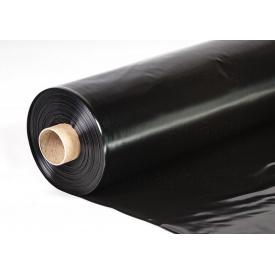 Пленка строительная черная 1,5х80 вт 100 пог.м