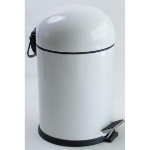 BON відро для сміття з педаллю 5л колір білий EFOR 5003B