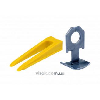 Набір кліпси 300шт і клини 100шт Virok для вирівнювання