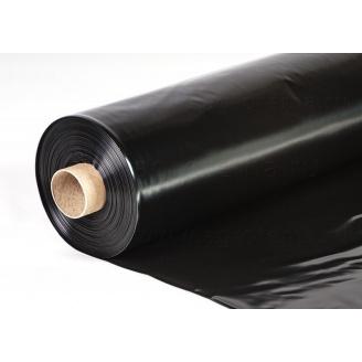 Плівка будівельна чорна 1,5х80 вт 100 пог.м