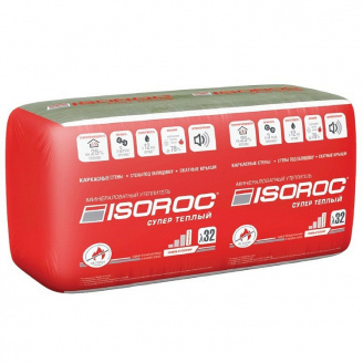 Утеплювач ISOVER ISOROC Супер Теплий 1000х600х50 мм 6,1м2/упак