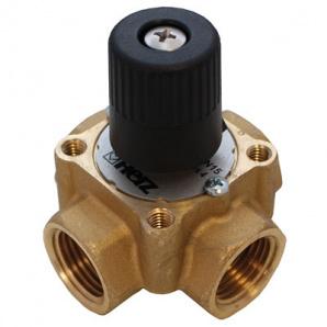Триходовий змішувальний клапан kvs 40 DN 50 ВР корпус і куля з DZR латун Herz 1213706
